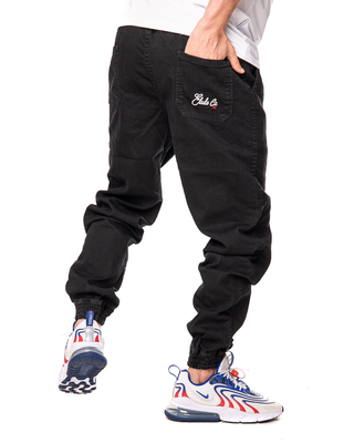Spodnie Jeans Jogger Elade New Logo Czarne