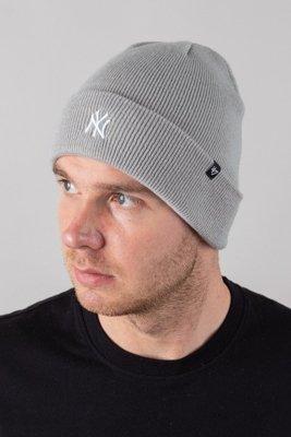 Czapka 47 Brand Zimowa Cuff Knit New York Yankees Melange-White