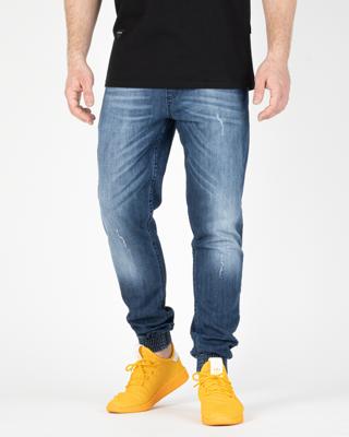 Jeans Jogger Ssg Premium Wycierane Z Zagnieceniami Blue