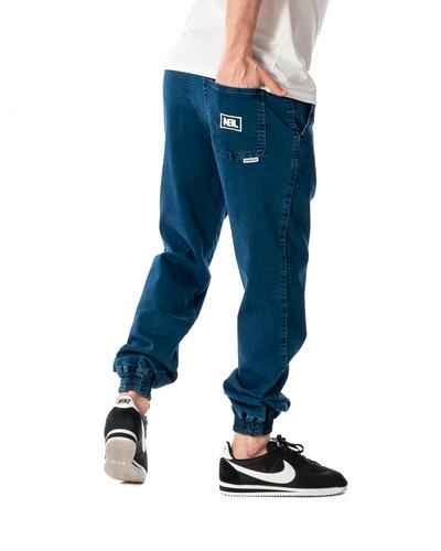 Spodnie Jeans Jogger New Bad Line Icon Ciemnoniebieskie