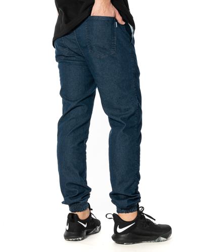 Spodnie Jeans Jogger Patriotic Futura Mini Ciemnoniebieskie