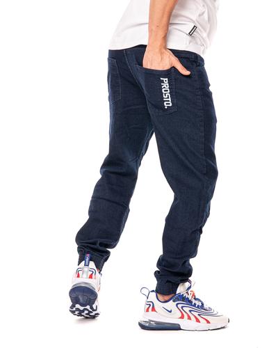 Spodnie Jeans Jogger Prosto Imit Ciemnoniebieskie