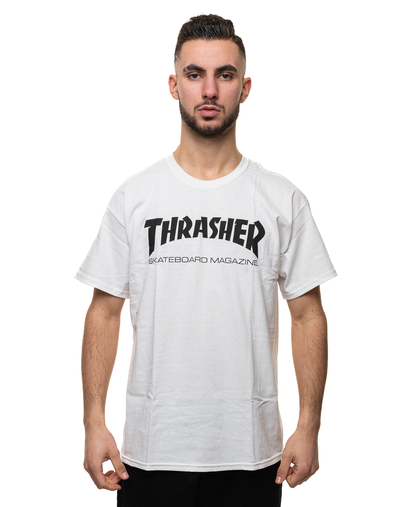 Koszulka Trasher Sk8 Mag White