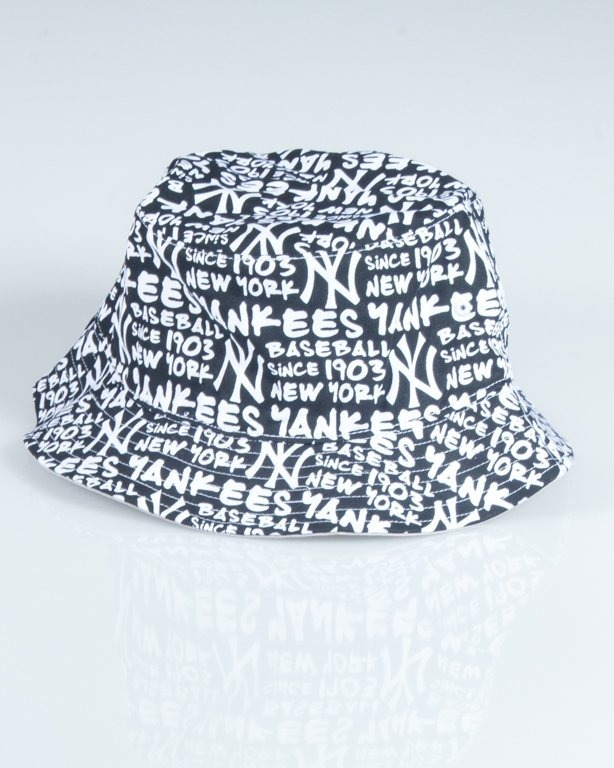 47 BRAND BUCKET HAT NEW YORK YANKEES FAT CAP BLACK-WHITE