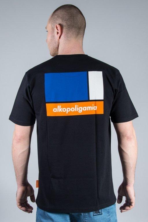 Alkopoligamia Koszulka T-shirt Flame Black