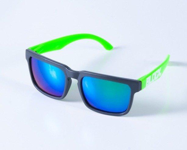 BLOCX OKULARY SQUARE BLACK-GREEN