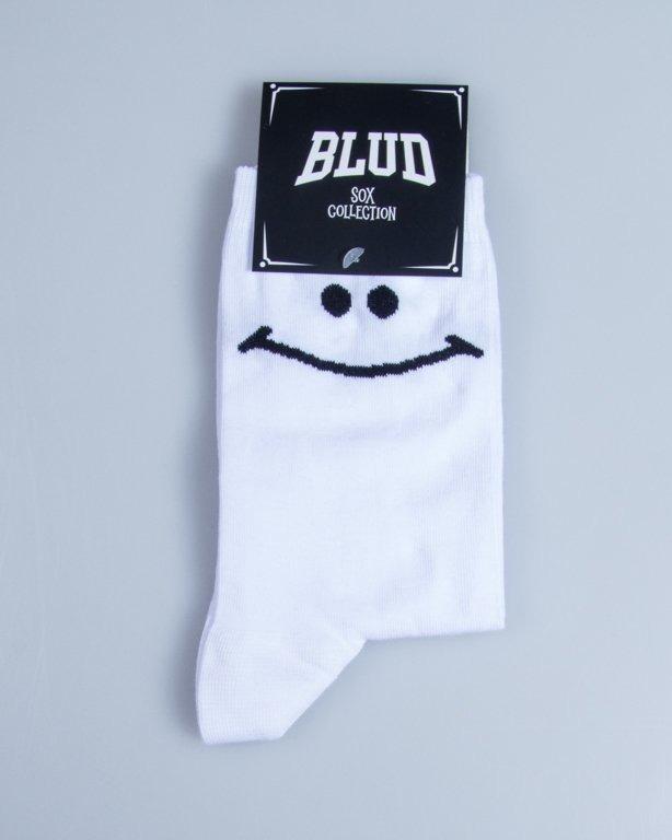 BLUD SOCKS QUARTER SMILE WHITE