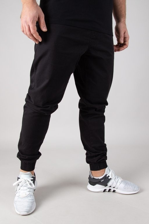 BOR CHINO JOGGER BORCREW OUTLINE BLACK