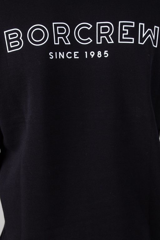 BOR HOODIE BORCREW OUTLINE BLACK