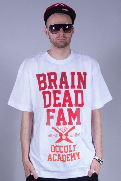 BRAIN DEAD FAMILIA KOSZULKA OCCULT WHITE-RED