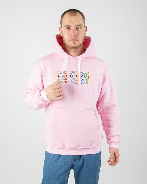 Bluza Alkopoligamia Hoodie 4lkopolicolors Pink