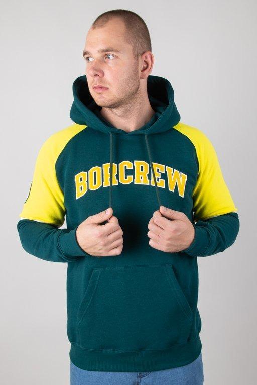 Bluza Bor Hoodie College Reglan Green