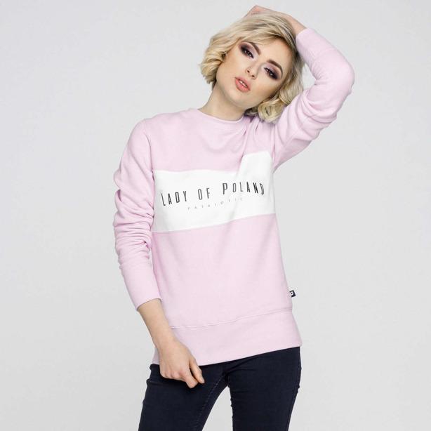 Bluza Damska bez kaptura Lady of Poland Pink