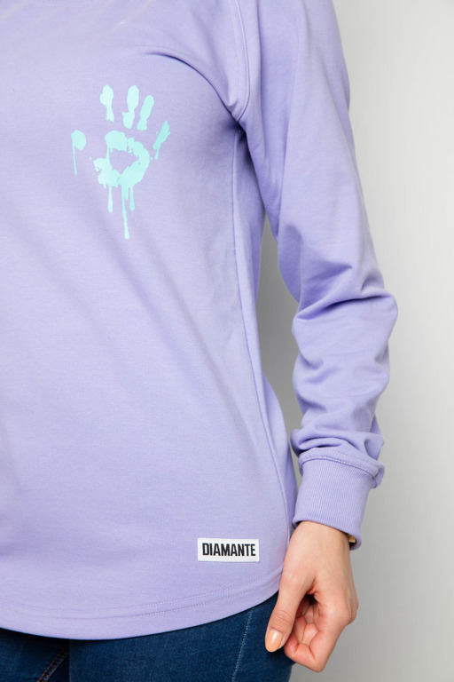 Bluza Diamante Chicks Long I See Dead Haters Violet