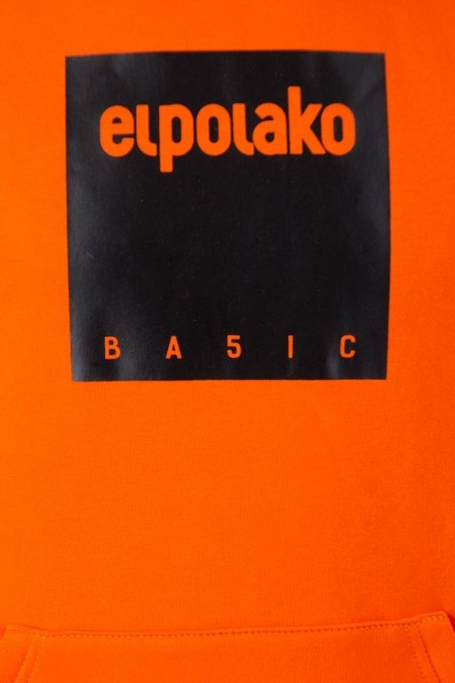 Bluza El Polako Hoodie Box Style Orange