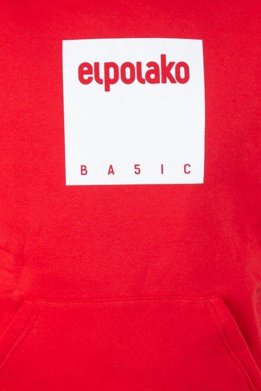 Bluza El Polako Hoodie Box Style Red