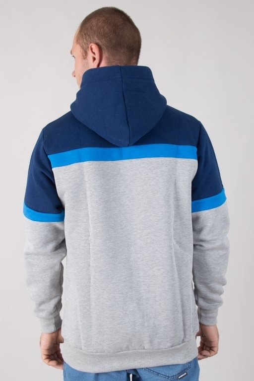 Bluza El Polako Hoodie Colors Cut Grey-Navy