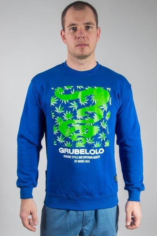 Bluza Grube Lolo Logo Full Ganja Dark Blue