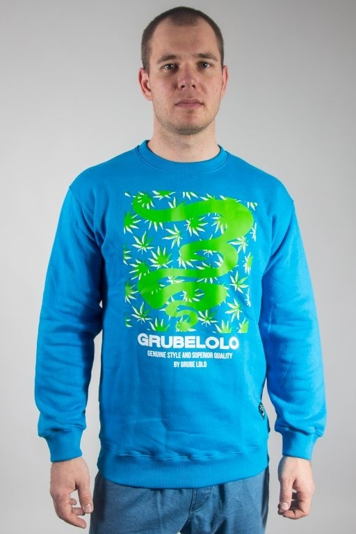 Bluza Grube Lolo Logo Full Ganja  Light Blue