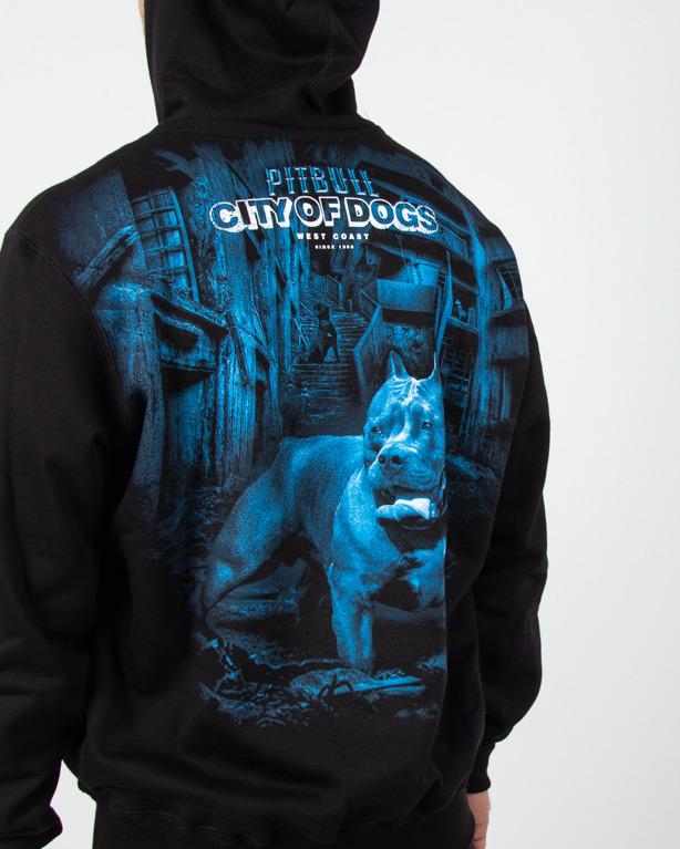 Bluza Hoodie Pitbull City Of Dog Black