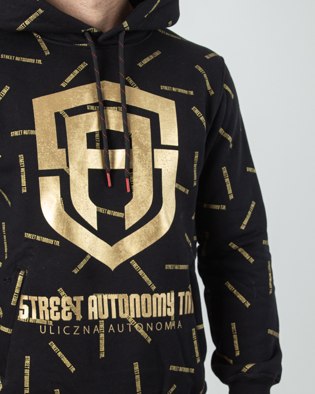 Bluza Hoodie Street Autonmy Scales Logo Black-Gold