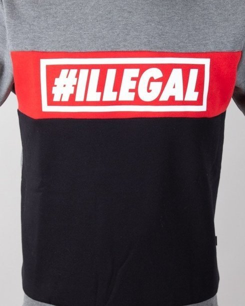 Bluza Illegal Classic Red-Grey