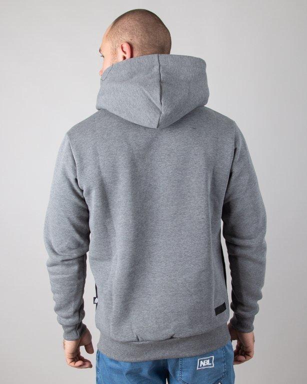 Bluza Illegal Hoodie Color Grey-Black