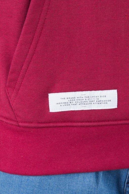 Bluza Lucky Dice Hoodie Logo On Sleeve Brick
