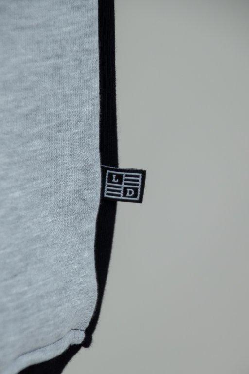 Bluza Lucky Dice Stripes Cut Black-Grey