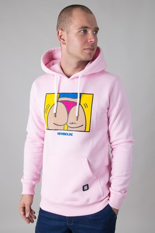 Bluza New Bad Line Hoodie Ass Pink