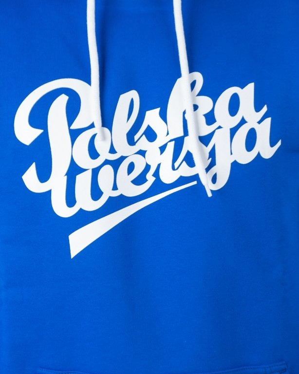 Bluza Polska Wersja Hoodie Polska Wersja Blue