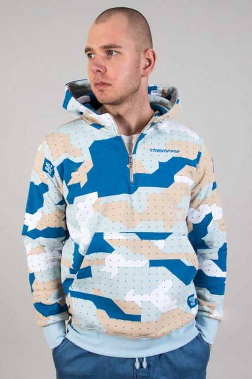 Bluza Stoprocent Hoodie Half Zip Camo Blue