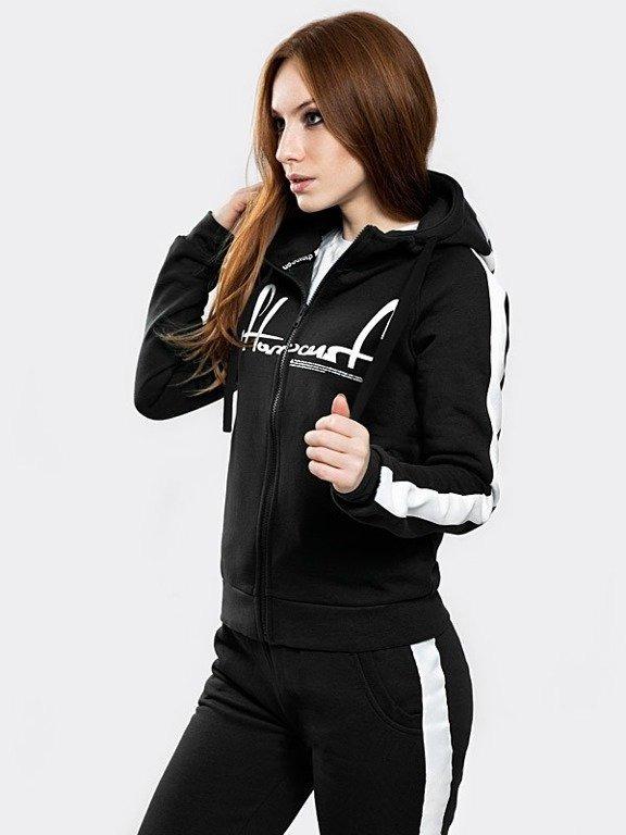 Bluza Stoprocent Hoodie Zip Woman Tape Black