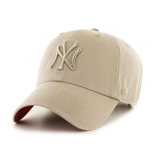 Czapka 47 Brand Clean Up New York Yankees Beige