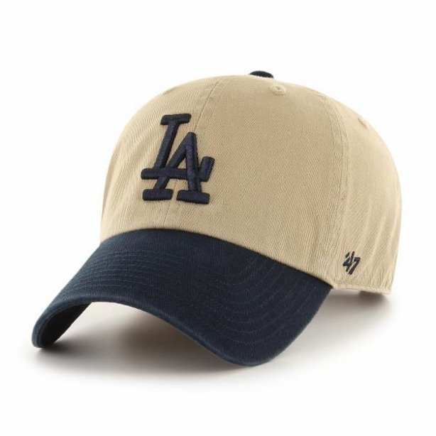 Czapka 47 Brand Los Angeles Dodgers Clean Up Beige-Navy