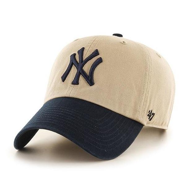 Czapka 47 Brand New York Yankees Clean Up Beige-Navy