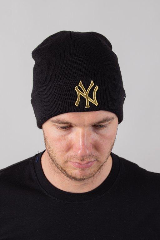 Czapka 47 Brand Zimowa Cuff Knit New York Yankees Black-Gold