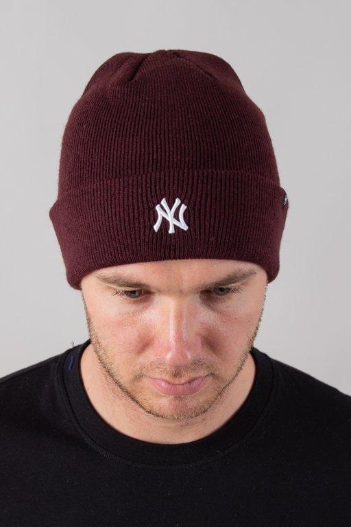 Czapka 47 Brand Zimowa Cuff Knit New York Yankees Brick-White