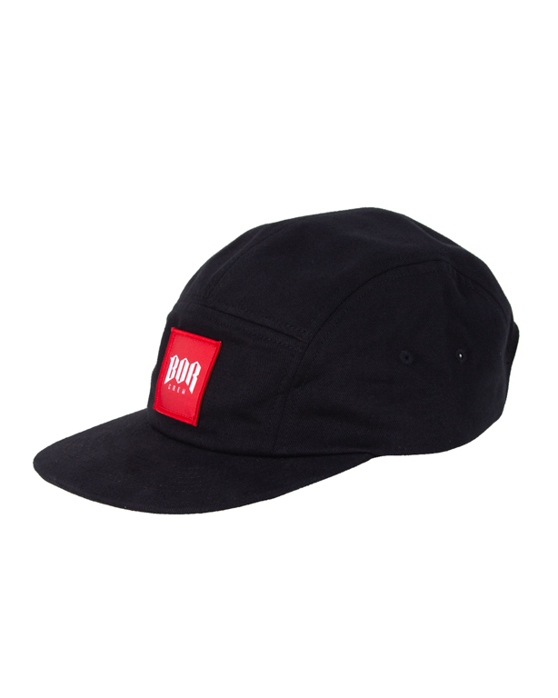 Czapka Bor 5Panel Kwadrat New Black