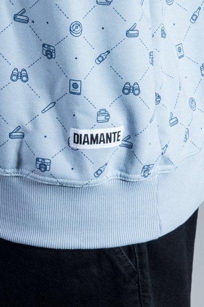 DIAMANTE WEAR CREWNECK ADVENTURE AWAITS BLUE
