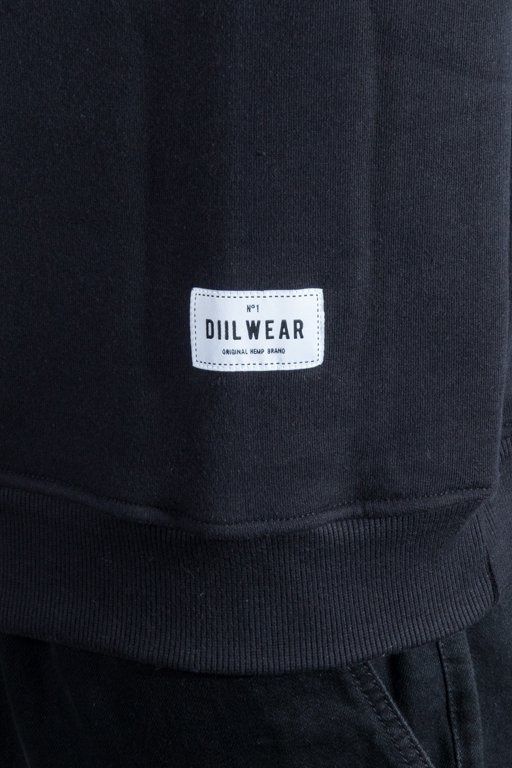 DIIL CREWNECK FULL LOGO BLACK-RED
