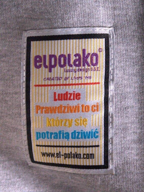 EL POLAKO BLUZA BEZ KAPTURA AZTEC GREY