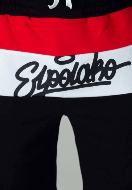 EL POLAKO SWEATSHORTS 3COLORS WRITTEN BLACK-RED