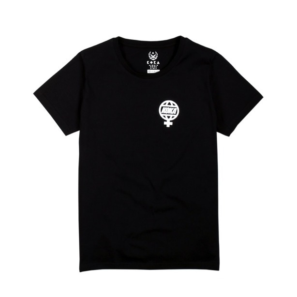 KOKA WMNS T-SHIRT THE GLOBE BLACK