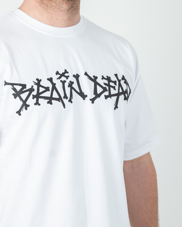 Koszulka Brain Dead Familia Bone White