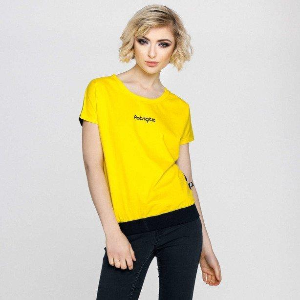 Koszulka Damska Patriotic Pat Girl Yellow
