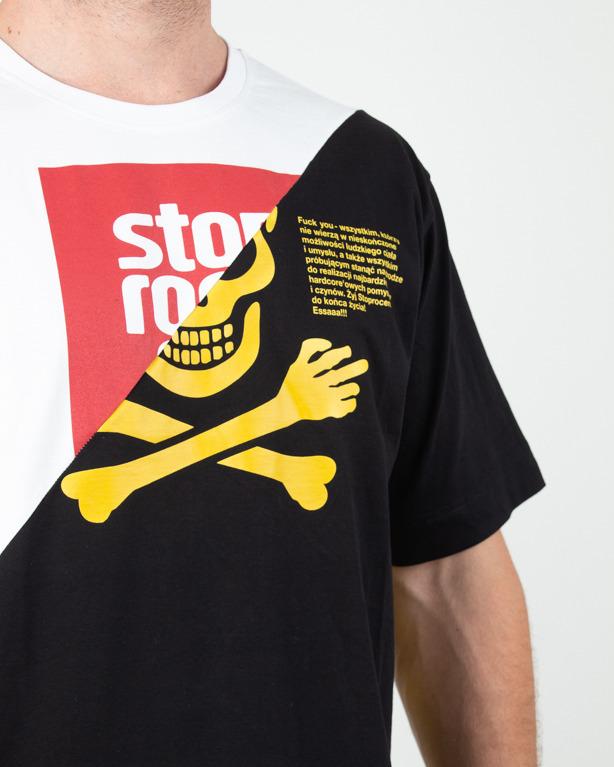Koszulka Stoprocent Toxicated White-Black
