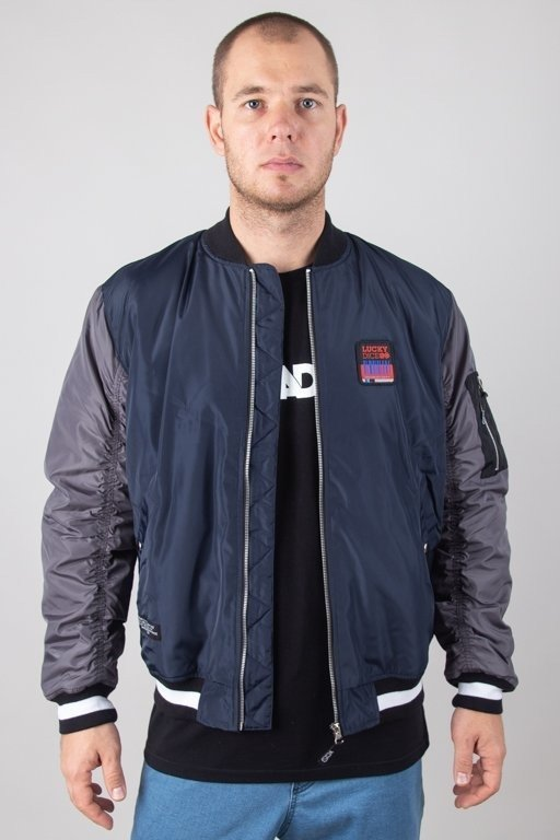 Kurtka Lucky Dice Wiatrówka Bomber Ld Colour Navy-Grey