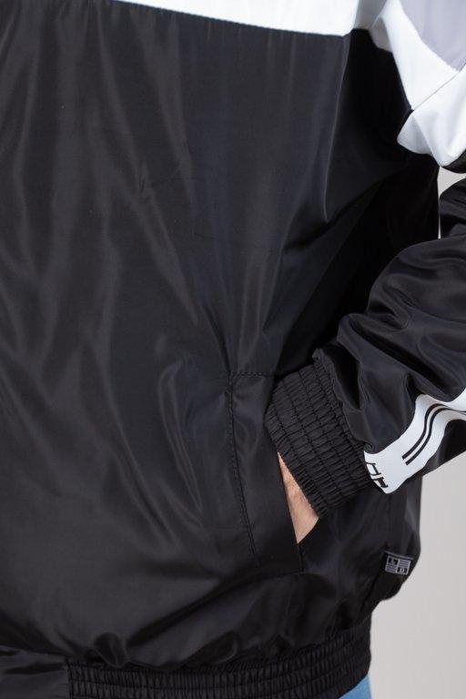 Kurtka Lucky Dice Wiatrówka Zip Tape Grey-Black