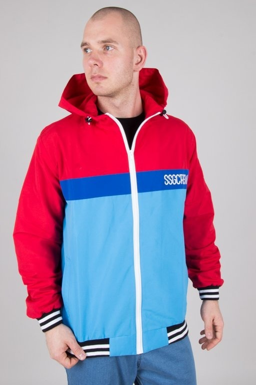Kurtka SSG Wiatrówka Zip Color Blue-Red